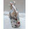 Kép 3/5 - Virág mintás elegáns merev falú oldaltáska fehér