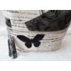 Kép 3/5 - Pillangó mintás bojt díszes oldaltáska fekete