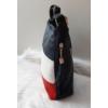 Kép 3/5 - Kék fehér piros csíkos női oldaltáska