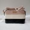Kép 1/5 - Merev falú csíkos mintás női oldaltáska rózsaszín