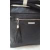 Kép 4/12 - Black tassel táska pénztárca szett
