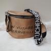 Kép 1/5 - Keresztpántos női táska felirattal barna