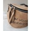 Kép 2/5 - Keresztpántos női táska felirattal barna