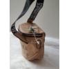 Kép 3/5 - Keresztpántos női táska felirattal barna