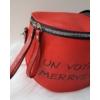 Kép 2/5 - Keresztpántos női táska felirattal piros