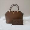 Kép 1/2 - Brown elegant táska pénztárca szett