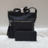 Kép 1/10 - Black lace II táska pénztárca szett