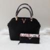 Kép 1/11 - Black elegant táska pénztárca szett