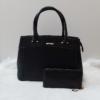 Kép 1/10 - Black elegant táska pénztárca szett