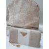 Kép 2/13 - Beig flower táska pénztárca szett