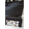 Kép 2/10 - Black flower táska pénztárca szett