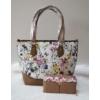 Kép 1/12 - Brown flower táska pénztárca szett