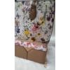 Kép 2/12 - Brown flower táska pénztárca szett