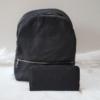 Kép 1/12 - Black flower táska pénztárca szett