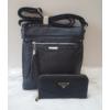 Kép 1/12 - Black tassel táska pénztárca szett