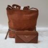 Kép 1/12 - Brown lace táska pénztárca szett