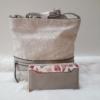 Kép 1/10 - Grey lace táska pénztárca szett