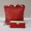 Kép 1/11 - Red lace táska pénztárca szett