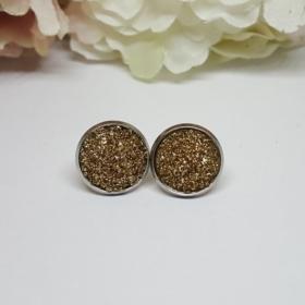 Arany rozsdamentes acél fülbevaló 12 mm