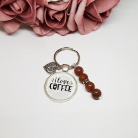 Kávé feliratos kulcstartó