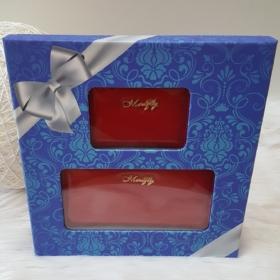 Lakk piros 2 db-os pénztárca ajándékszett díszdobozban