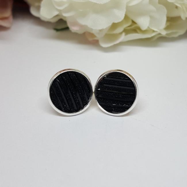 Bedugós fülbevaló 12 mm fekete