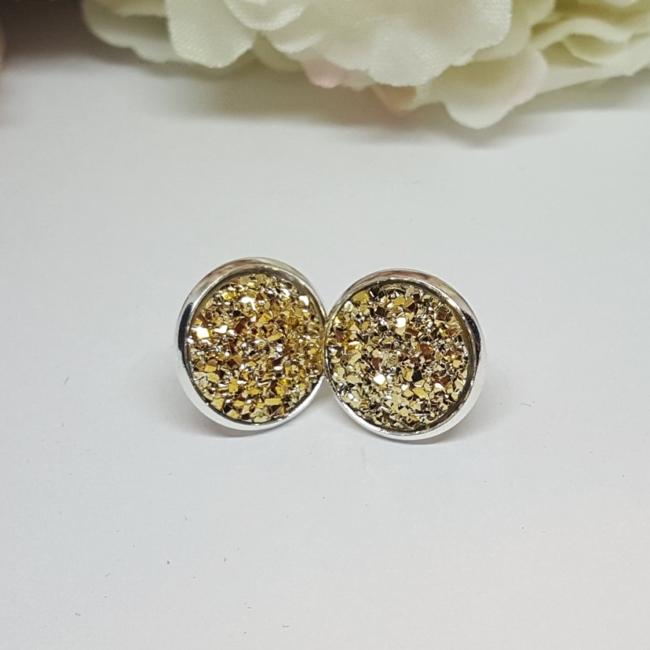 Bedugós fülbevaló 12 mm arany