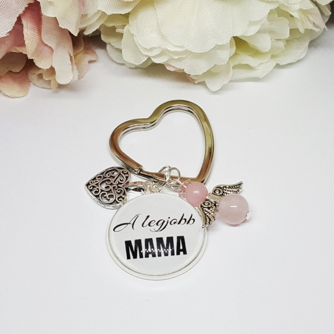 A legjobb Mama feliratos kulcstartó