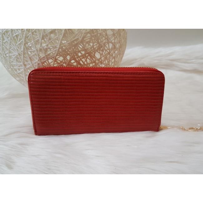 Masni díszes női pénztárca piros