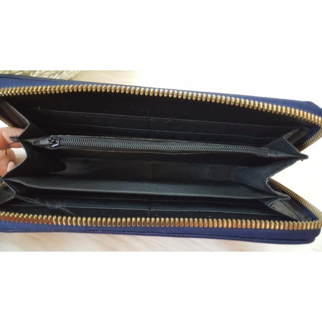 Egyszínű női pénztárca sötétkék
