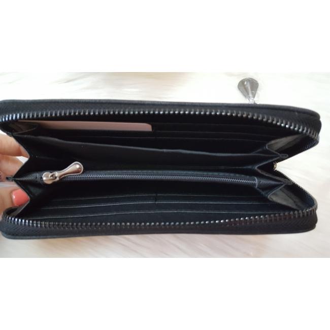 V díszes elegáns női pénztárca fekete