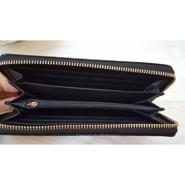 Lakk fekete 2 db-os pénztárca ajándékszett díszdobozban