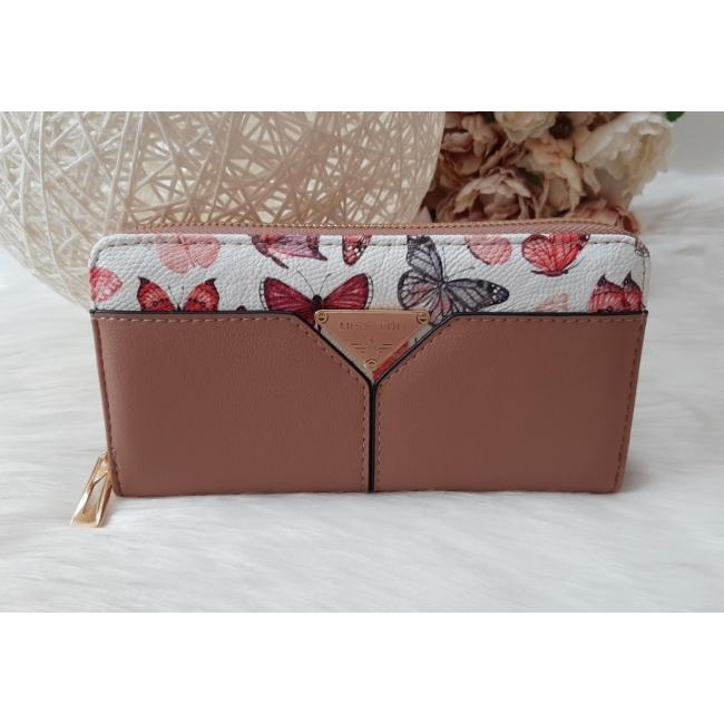 Pillangó mintás női pénztárca lilás