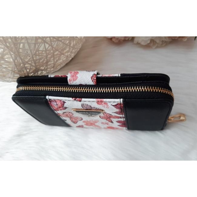Black flower II táska pénztárca szett