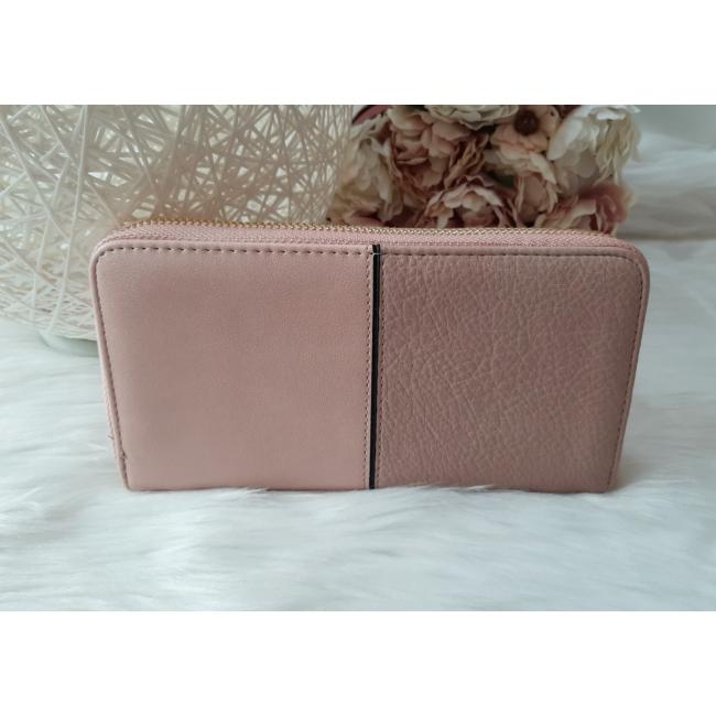 Csipke virág mintás egyszínű női pénztárca rózsaszín