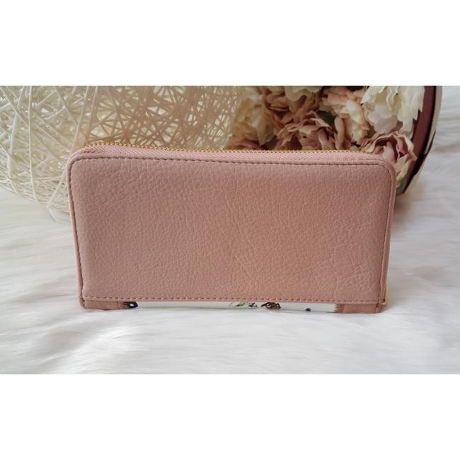 Pillangó mintás női pénztárca rózsaszín