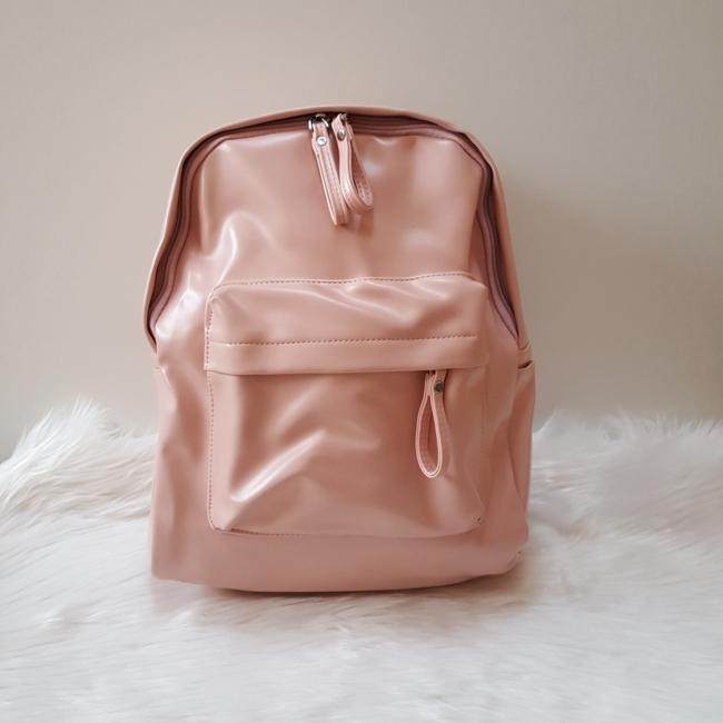 Nagy méretű rózsaszín női hátitáska