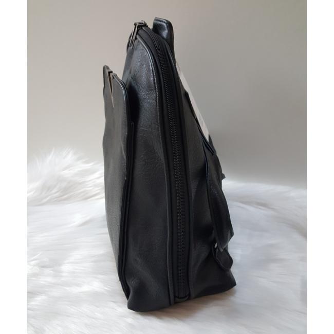 V díszes elegáns női hátitáska fekete