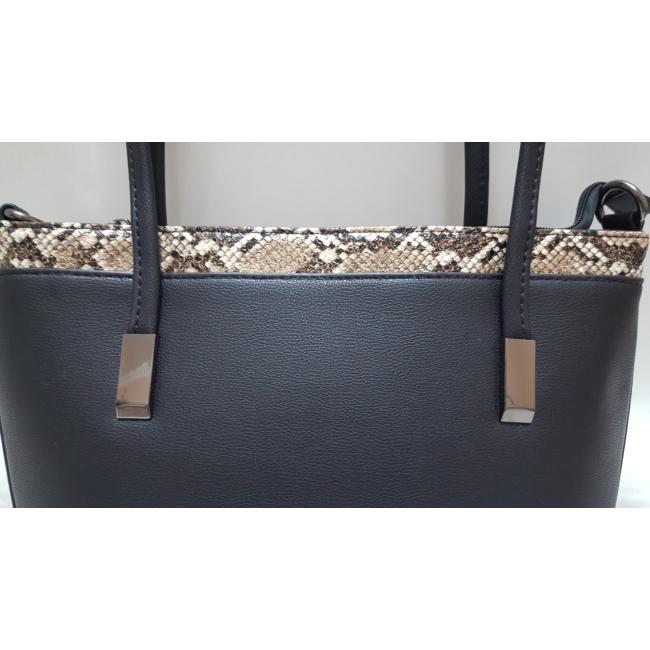 Kígyóbőr mintás merev falú elegáns női táska