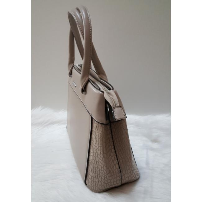 Silvia Rosa kígyóbőr mintás elegáns merev falú táska