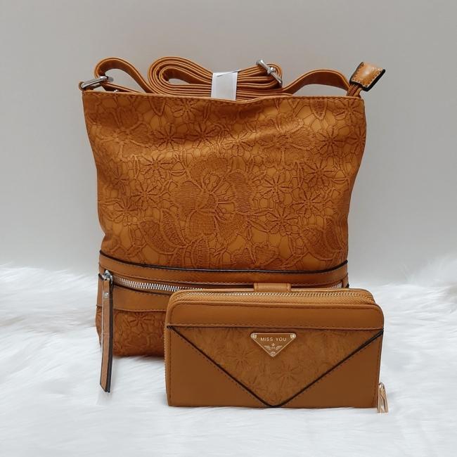 Yellow lace II táska pénztárca szett