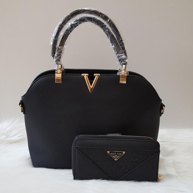 Black elegant I táska pénztárca szett
